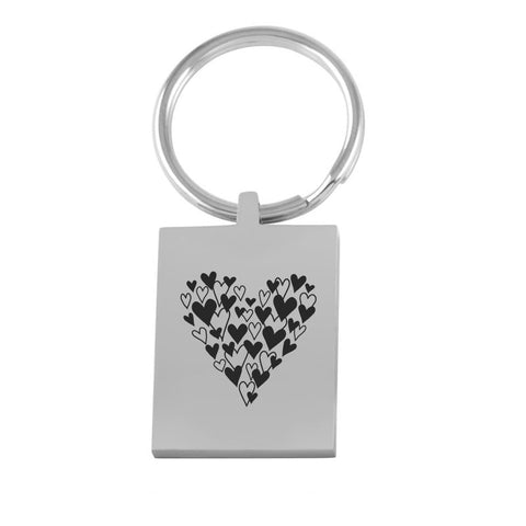 Image of A Whole Lotta Love Key Ring keychain Stainless Steel USA