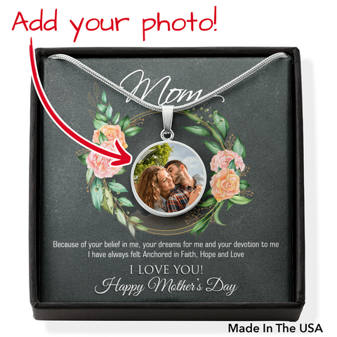 Beautiful Personalized Photo Pendant for Mom