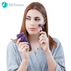 Best 3-in-1 Amethyst Roller and Gua Sha Beauty Kit - Ever!