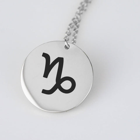 Capricorn Astrological Star Sign Pendant Charm and Necklace pendant Stainless Steel