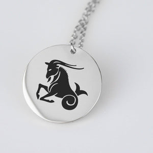Capricorn Horoscope Stainless Steel/Gold Pendant and Necklace pendant Stainless Steel
