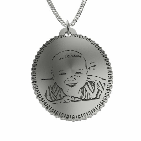 Image of Capture Your Baby Forever on Oval Personalized Jewelry Pendant pendant