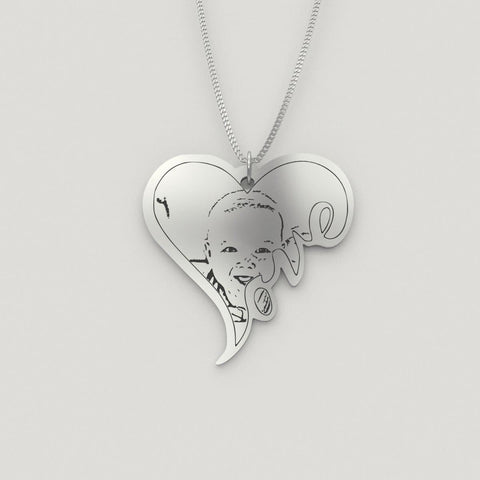 Image of Capture Your Baby Forever on Personalized Jewelry pendant