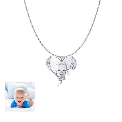 Image of Capture Your Baby Forever on Personalized Jewelry pendant Silver Plated No USA
