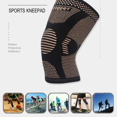 Copper Infused Knee & Joint Support. Ideal protection for running and sports. Fitness Protective Gear