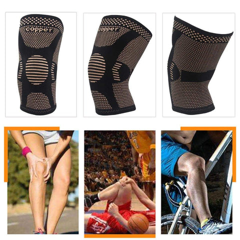 Image of Copper Infused Knee & Joint Support. Ideal protection for running and sports. Fitness Protective Gear