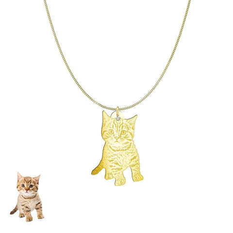 Image of Custom Personalized Pet Silhouette Necklace and Pendant Jewelry pendant