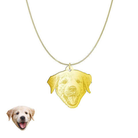 Custom Personalized Pet Silhouette Necklace and Pendant Jewelry pendant Gold Plated Sterling Silver No