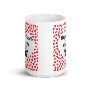 Cute Hugging Pandas. Hugs and Kisses. Valentine's Day or Anniversary. Tea or Coffee Mug. Mugs