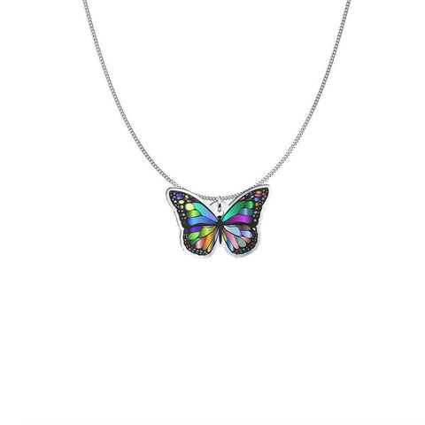 Design Your Own Jewelry like this Butterfly Necklace and Pendant pendant Silver Plated No