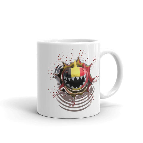 Image of Germany Flag. Patriotic Shark. Tea or Coffee Mug 11oz
