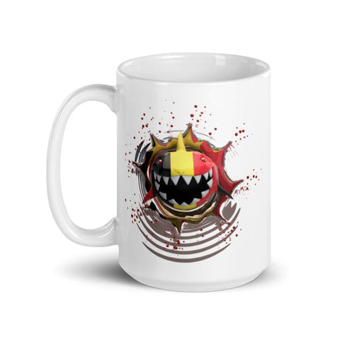 Image of Germany Flag. Patriotic Shark. Tea or Coffee Mug