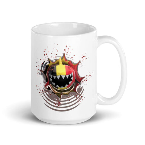 Image of Germany Flag. Patriotic Shark. Tea or Coffee Mug 15oz