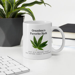 Grandma's Favorite Herb. Tea or Coffee Mug Mugs 11oz