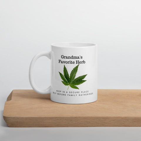 Image of Grandma's Favorite Herb. Tea or Coffee Mug Mugs