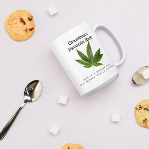 Grandma's Favorite Herb. Tea or Coffee Mug Mugs