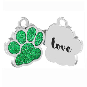 Love Your Pet With a Colorful Personlized Dog Tag dogtag Green