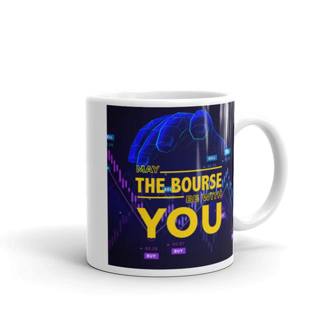 Image of May The Bourse Be With You. Tea or Coffee Mug. Version 2 Mugs 11oz