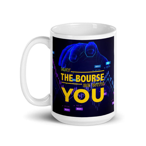 Image of May The Bourse Be With You. Tea or Coffee Mug. Version 2 Mugs