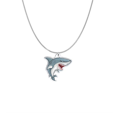 Mean Mouth Shark Freeform Pendant pendant Silver Plated No