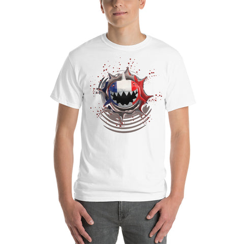 France Flag. Patriotic Shark. Short Sleeve T-Shirt