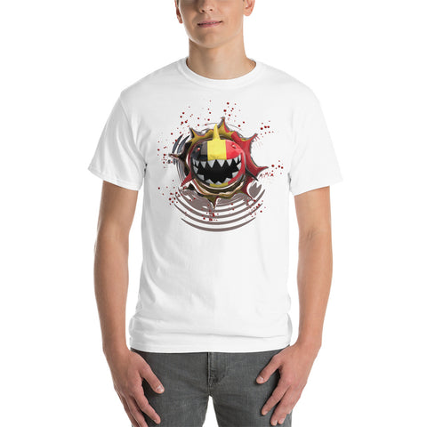 German Flag. Patriotic Shark. Unisex Short Sleeve Gildan T-Shirt