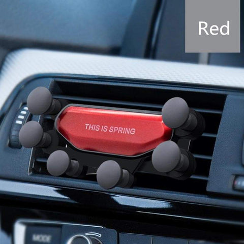 New Unique Universal Gravity Cell Phone & GPS Holder for Car Red