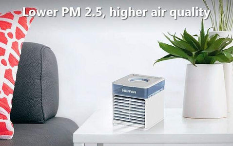 NexFan Ultra. It cools, humidifies, purifies, disinfects, and soothes