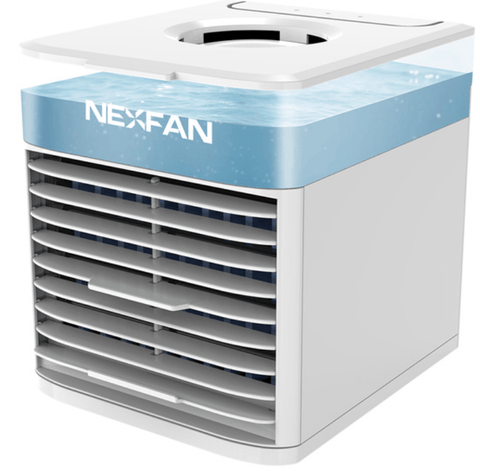 Image of NexFan Ultra. It cools, humidifies, purifies, disinfects, and soothes White