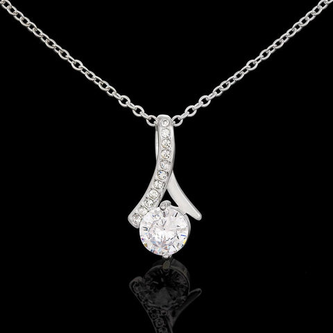 Personalized Sparkling White Gold and Crystal Necklace. Jewelry
