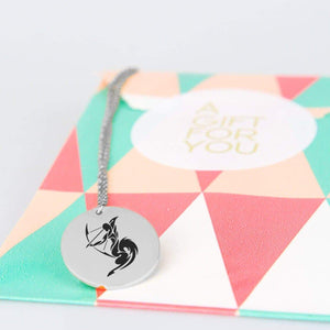 Sagittarius Horoscope Star Sign Pendant Charm and Necklace pendant
