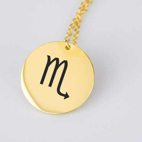 Scorpio Astrological Star Sign Pendant Charm and Necklace pendant Gold Plated Stainless Steel