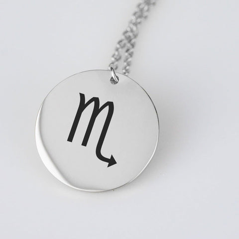 Scorpio Astrological Star Sign Pendant Charm and Necklace pendant Stainless Steel
