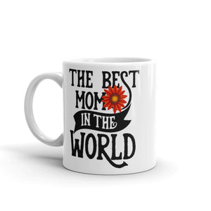 The Best Mom In The World. Red Flower Tea or Coffee Mug