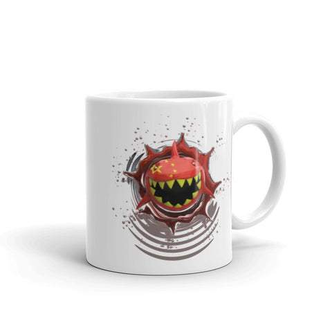 Image of China Flag. Patriotic Shark. Tea and Coffee Mug