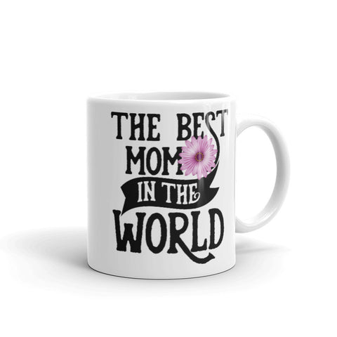 The Best Mom in The World. Purple Flower Tea or Coffee Mug