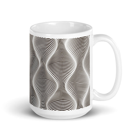 Image of Dizzying 3D Effect Wave Pattern Tea or Coffee Mug