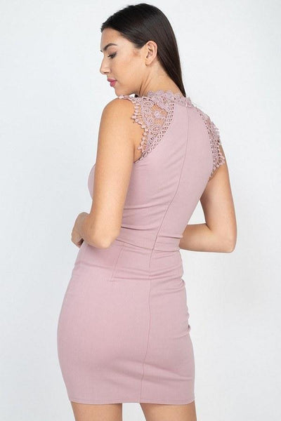Sleeveless Lace Mini Dress - RisaRose Luxury Shop