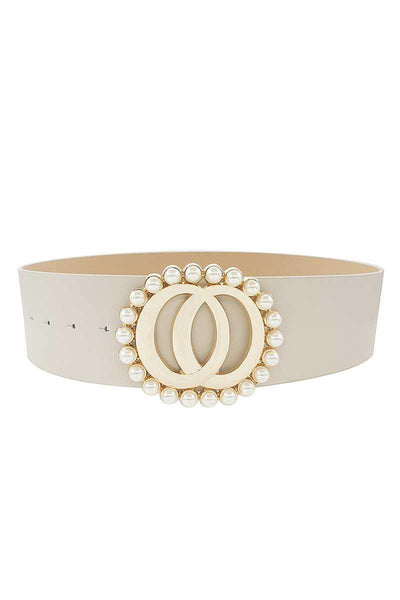 Fashion Double Joined Round Pearl Style Belt - RisaRose Luxury Shop