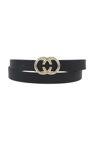 Center Cut Double Loop Standard Belt - RisaRose Luxury Shop