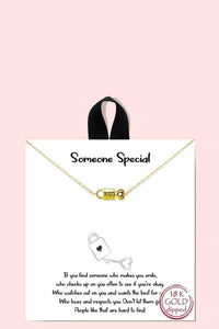 18k Gold Rhodium Dipped Someone Special Pendant Necklace - RisaRose Luxury Shop