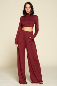 Casual Solid Color Two Piece Set - RisaRose Luxury Shop