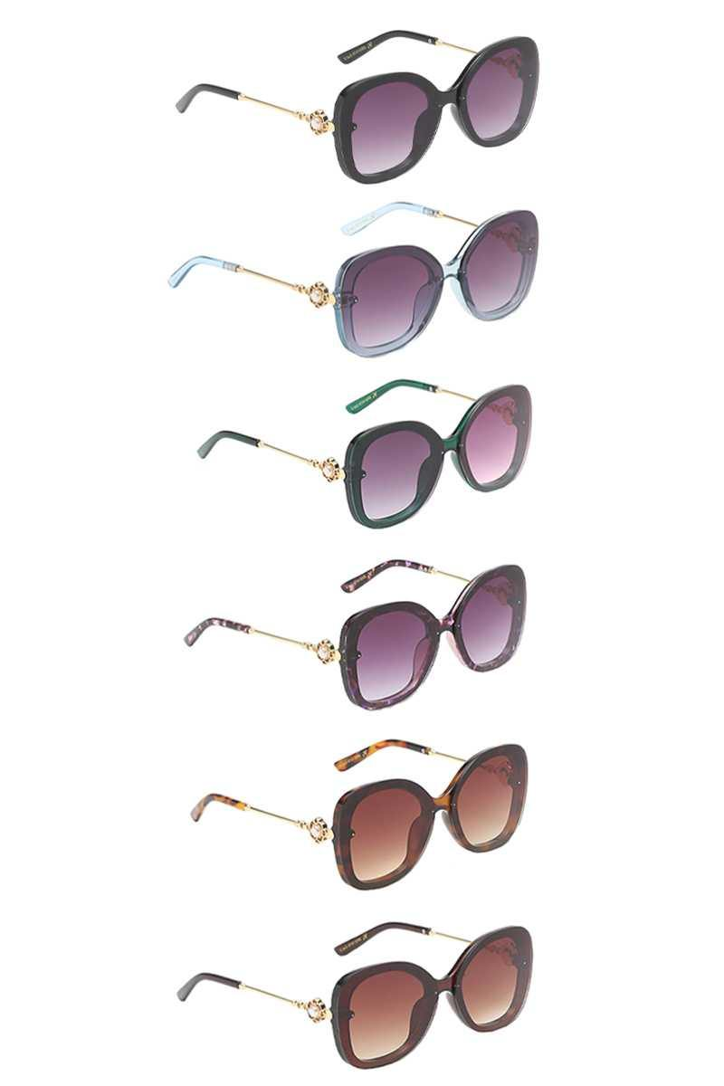Amazing Lens Pearl Style Decorated Temple Sunglasses - RisaRose Luxury Shop