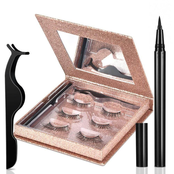 3 Pairs False Eyelashes Magic Reusable Set - RisaRose Luxury Shop