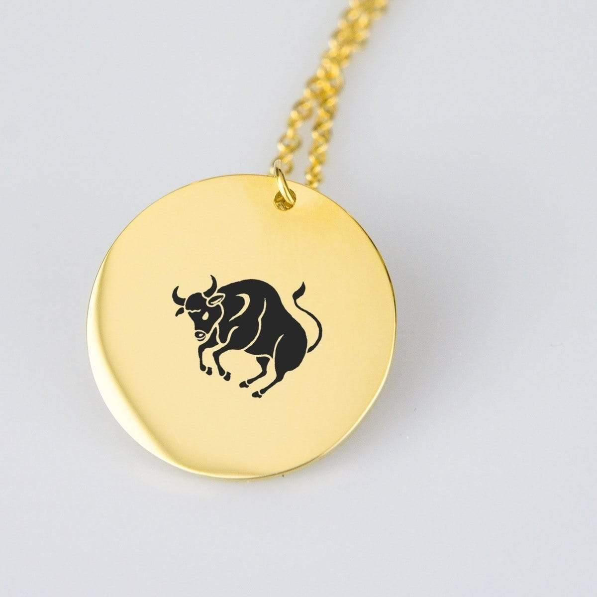 Beeoux pendant Gold Plated Stainless Steel Taurus Gold Pendant
