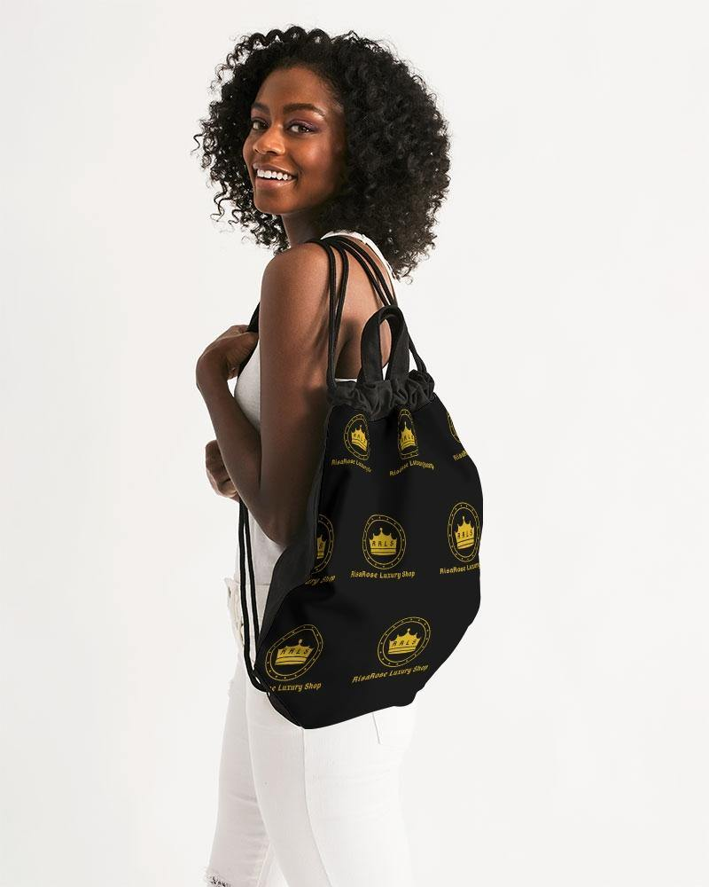 Logo v1 Canvas Drawstring Bag - RisaRose Luxury Shop