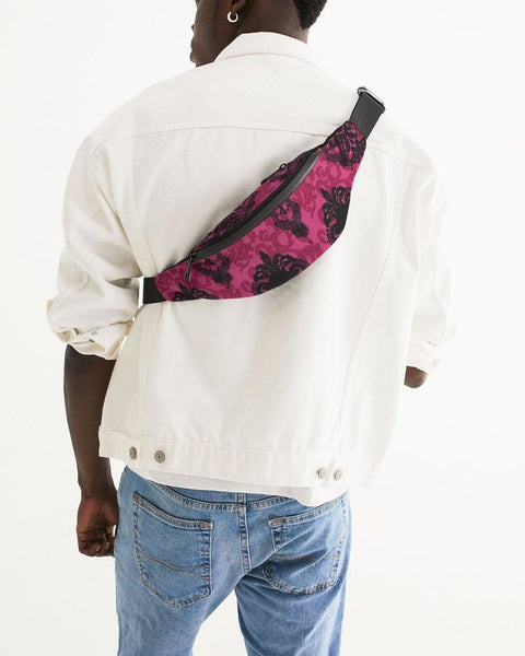 pink skulls Crossbody Sling Bag - RisaRose Luxury Shop