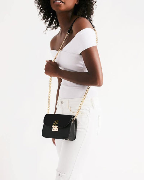 RRLS Black Small Shoulder Bag - RisaRose Luxury Shop