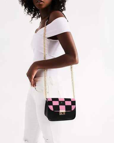 RRLS CHECKS Small Shoulder Bag - RisaRose Luxury Shop