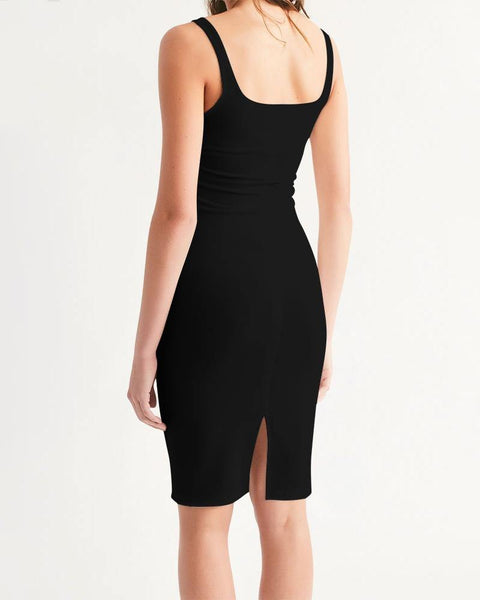 RRLS Black Women's Midi Bodycon Dress - RisaRose Luxury Shop